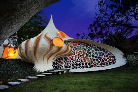 Javier Senosiain设计的墨西哥巨型鹦鹉螺贝壳屋