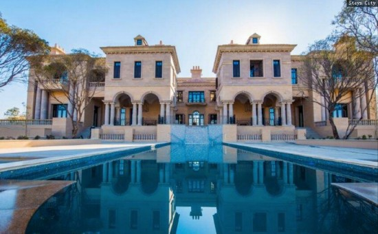 高清:富豪巨资打造南非最大豪宅 比总统官邸壮观