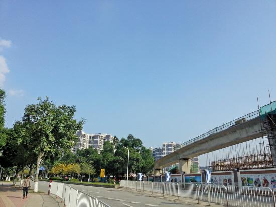 施工中的地铁4号线延长线将令南沙交通全面升级